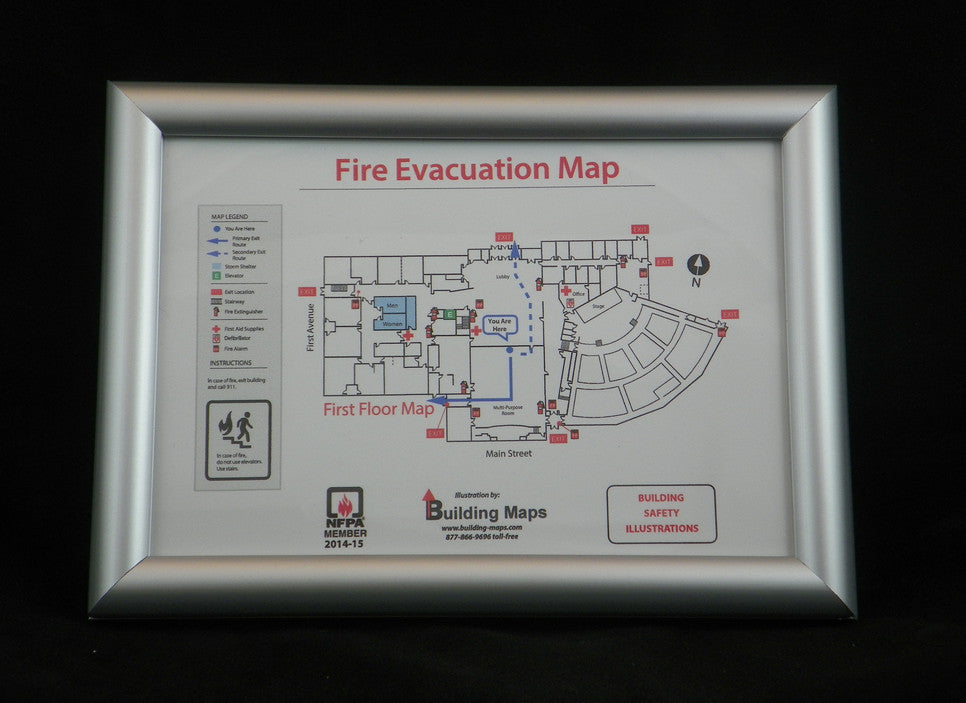 Hinged Evacuation Map Frame