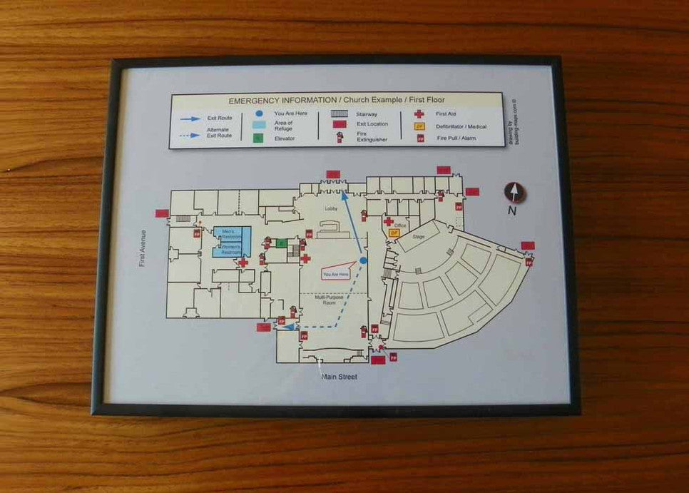Security Evacuation Map Frame