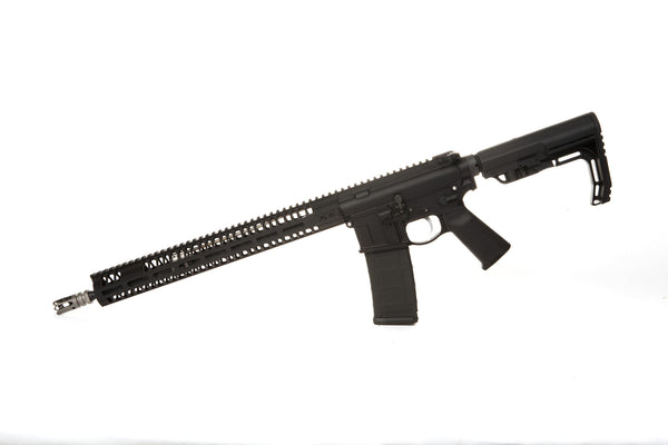 Lightweight AR15 16 in barrel 15 inch handguards black