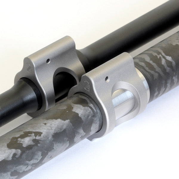 2A Armament lightweight titanium ar15 gas blocks titanium finish proof research carbon barrel and pencil barrel