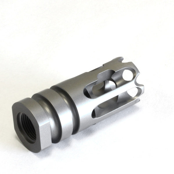 AR15 Lightweight Titanium Compensator 2A Armament T3 Titanium Compensator Raw Offset Right