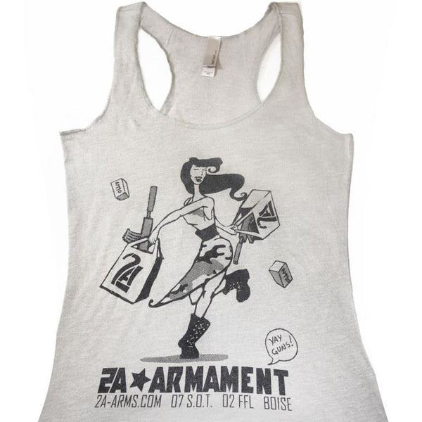 2A Armament Womens Vintage Shopping Tank Top Close up