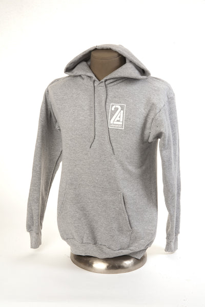 2A Armament Logo Hooded Sweatshirt Grey Front