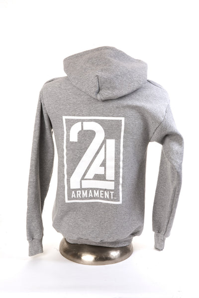 2A Armament Logo Hooded Sweatshirt Grey Back
