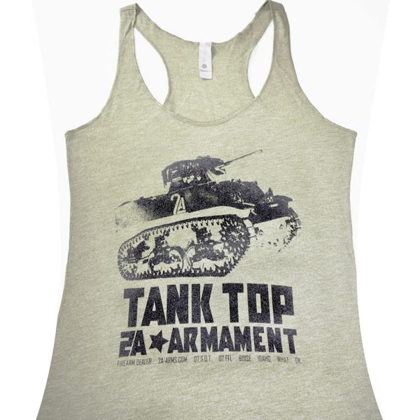 "2A Womens Vintage ""Tank"" Top Design Close up"