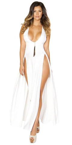 Sexy Kylie Maxi Cruise Dress with Front Slits