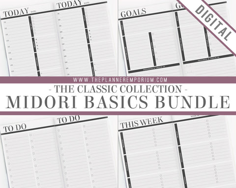 Midori Basics Bundle | CLASSIC Collection - The Planner Emporium - 1