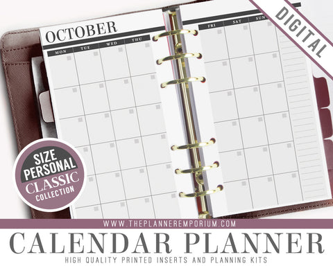 Personal Calendar Planner Inserts | CLASSIC Collection - The Planner Emporium - 1