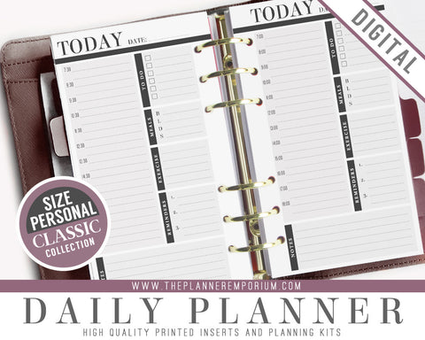 Personal Daily Planner Inserts | CLASSIC Collection - The Planner Emporium - 1