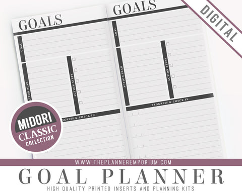 Midori Goal Planner Inserts | CLASSIC Collection - The Planner Emporium - 1