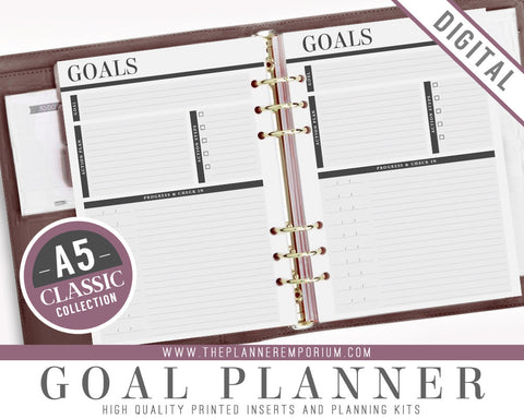 A5 Goal Planner Inserts | CLASSIC Collection - The Planner Emporium - 1