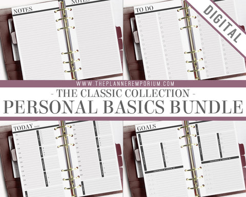 Personal Basics Bundle | CLASSIC Collection - The Planner Emporium - 1