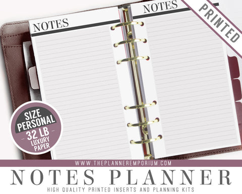 Personal Notes Planner Inserts | CLASSIC Collection - The Planner Emporium - 1