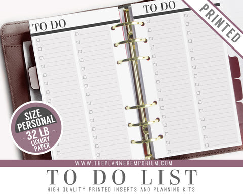 Personal To Do List Planner Inserts | CLASSIC Collection - The Planner Emporium - 1