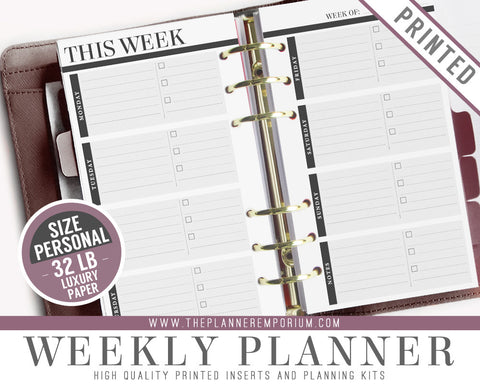 Personal Weekly Planner Inserts | CLASSIC Collection - The Planner Emporium - 1