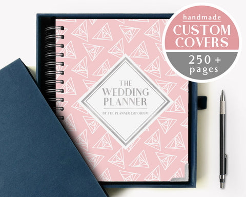The Wedding Planner | Simple Pink Triangle Design | The Planner Emporium