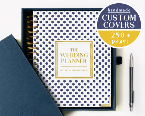 The Wedding Planner | Navy Polkadot Design | The Planner Emporium