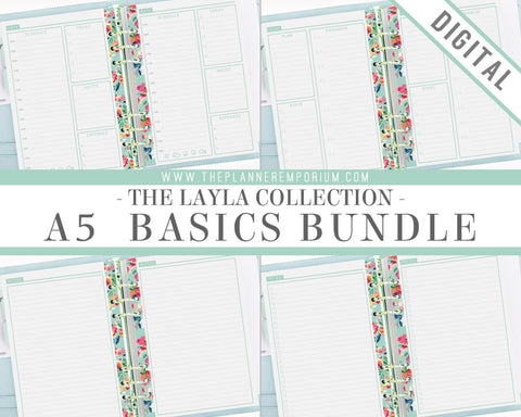 A5 Basics Bundle | LAYLA Collection - The Planner Emporium - 1