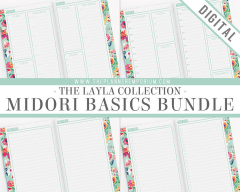 Midori Basics Bundle | LAYLA Collection - The Planner Emporium - 1