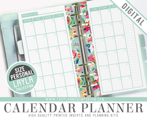 Personal Calendar Planner Inserts | LAYLA Collection - The Planner Emporium - 1