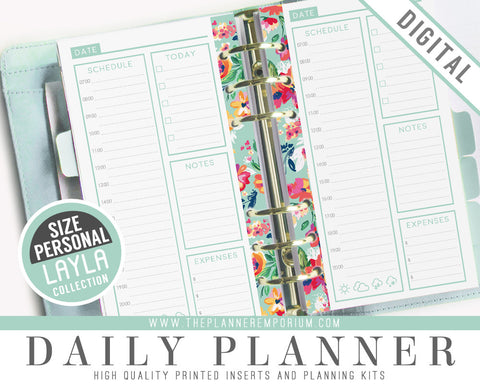 Personal Daily Planner Inserts | LAYLA Collection - The Planner Emporium - 1