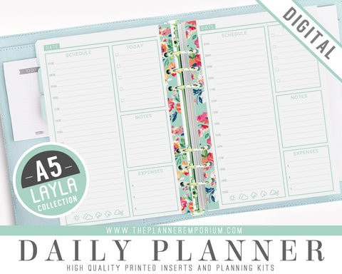 A5 Daily Planner Inserts | LAYLA Collection - The Planner Emporium - 1