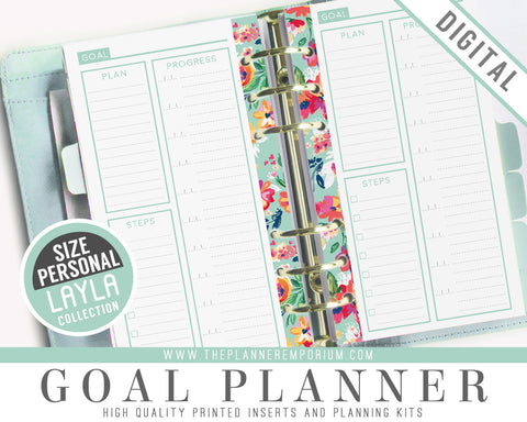 Personal Goal Planner Inserts | LAYLA Collection - The Planner Emporium - 1
