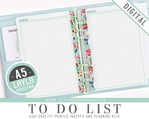 A5 To Do List Planner Inserts | LAYLA Collection - The Planner Emporium - 1