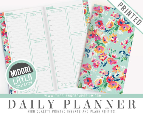 Midori Daily Planner Inserts | LAYLA Collection - The Planner Emporium - 1