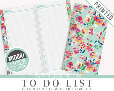 Midori To Do List Inserts | LAYLA Collection - The Planner Emporium - 1