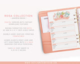 A5 Address Book Inserts | ROSA Collection - The Planner Emporium - 2
