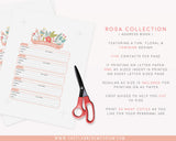 A5 Address Book Inserts | ROSA Collection - The Planner Emporium - 3