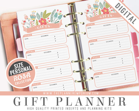 Personal Gift Planner Inserts | ROSA Collection - The Planner Emporium