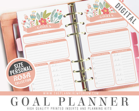 Personal Goal Planner Inserts | ROSA Collection - The Planner Emporium - 1