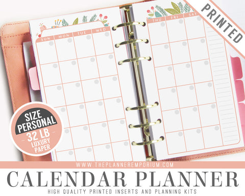 Personal Calendar Planner Inserts | ROSA Collection - The Planner Emporium - 1