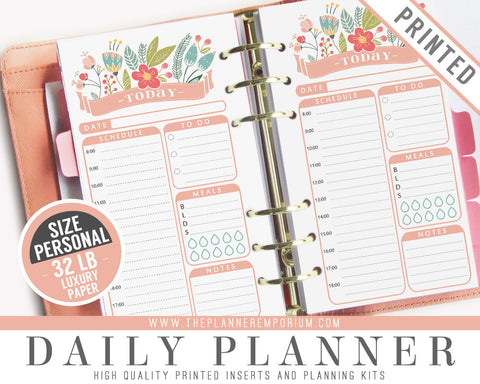 Personal Daily Planner Inserts | ROSA Collection - The Planner Emporium - 1