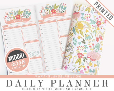 Midori Daily Planner Inserts | ROSA Collection - The Planner Emporium - 1