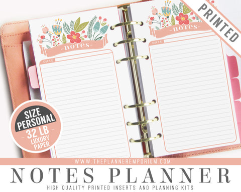 Personal Notes Planner Inserts | ROSA Collection - The Planner Emporium - 1