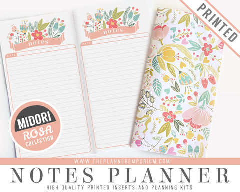 Midori Notes Planner Inserts | ROSA Collection - The Planner Emporium - 1
