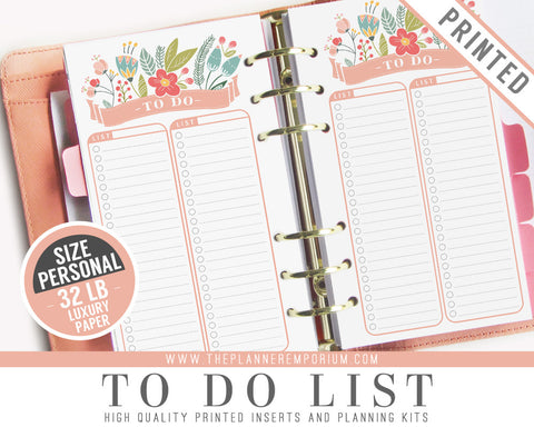 Personal To Do List Inserts | ROSA Collection - The Planner Emporium - 1