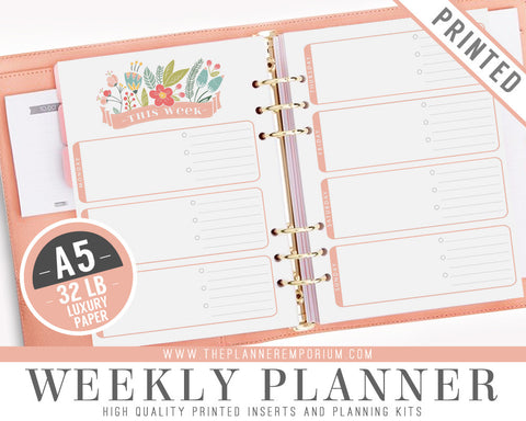 A5 Weekly Planner Inserts | ROSA Collection - The Planner Emporium - 1