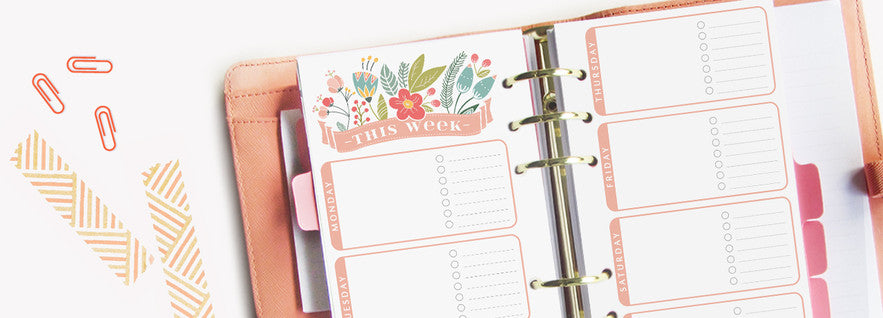 ROSA Collection Weekly Planner