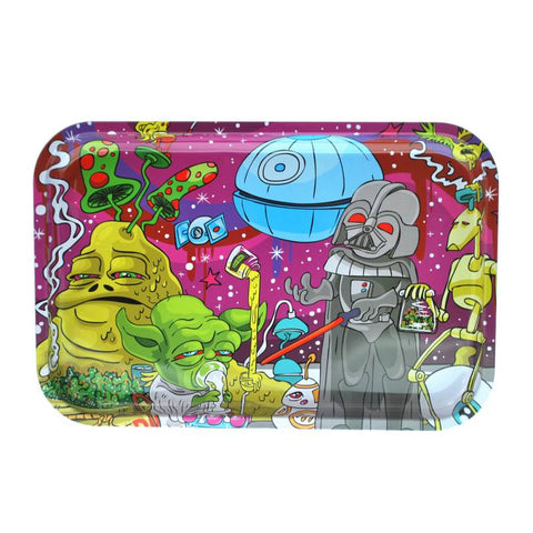 Dunkees Tin Rolling Tray - Dab Wars