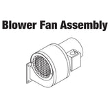 BLOWER & MOTOR W/ OIL DECAL ASSEMBLY