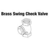BRASS SWING CHECK VALVE,3/4'' FIP
