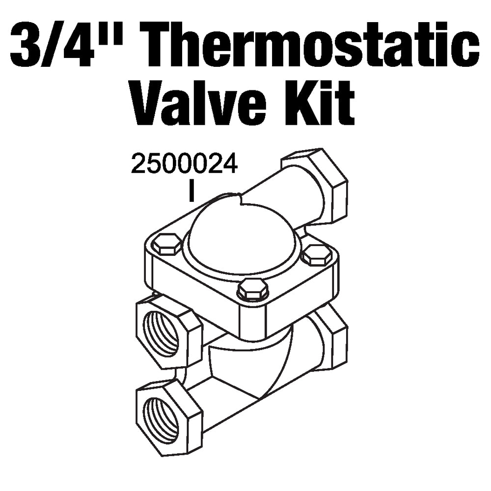 Central Boiler Thermostatic Valve and Body Kit 3/4
