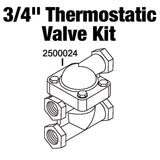 "Thermostatic Valve and Body Kit 3/4"" NPT"