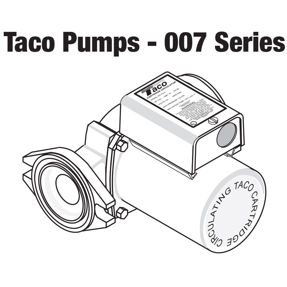 ... Taco 007-ZF5-9 Priority Zoning Circulator Pump 1/25 HP, 115V ...