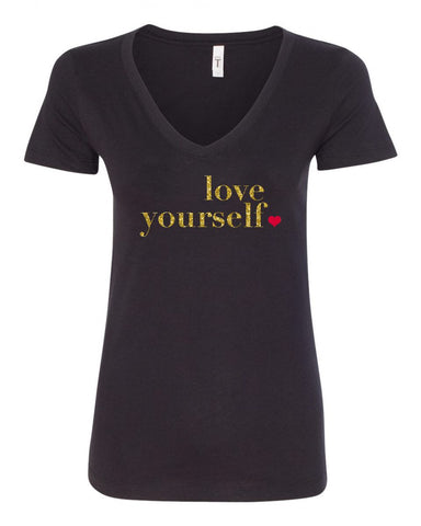 Love Yourself V-Neck Tee
