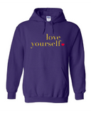 Love Yourself Ladies Hoodies